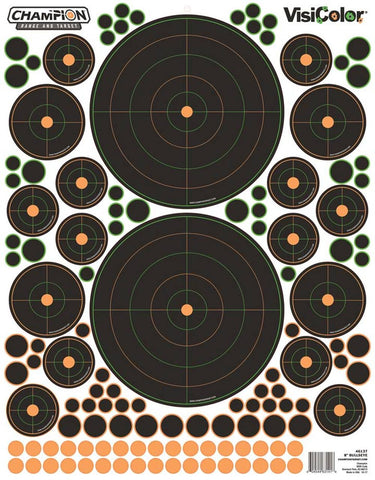 Bushnell 5-pack of VisiColor Bullseye Targets by Champion Traps And Targets