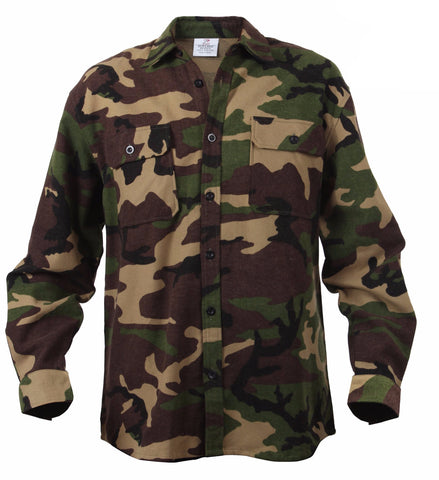 Rothco Extra Heavyweight Camo Flannel Shirts