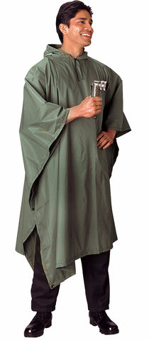 Rothco G.I. Type Military Rip-Stop Poncho - Mad City Outdoor Gear