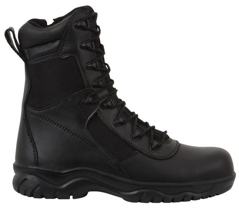 "Rothco Forced Entry 8"" Tactical Boot With Side Zipper & Composite Toe"