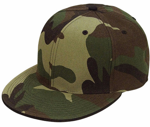 6-Panel Fitted Cap - Woodland Camo