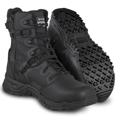 "Original SWAT Alpha Fury 8"" Polishable Toe Side-Zip Men's Boots"