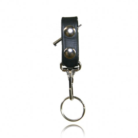 Boston Leather Belt Keeper with Hidden Handcuff Key and Key Snap