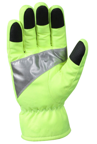Rothco Safety Green Gloves With Reflective Tape