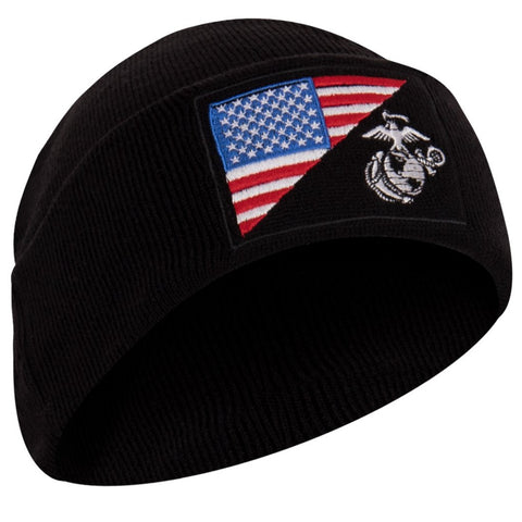 Rothco USMC / US Flag Deluxe Fine Knit Watch Cap