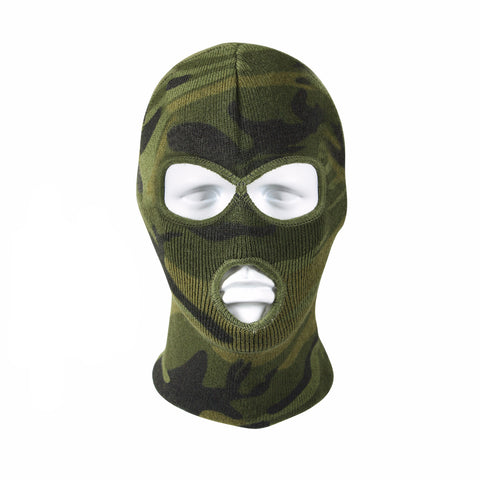 Rothco Deluxe 3-Hole Face Mask - Woodland