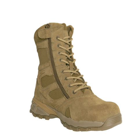 Rothco 8 Inch Forced Entry Tactical Boot With Side Zipper & Composite Toe - AR 670-1