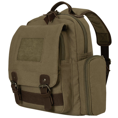 Rothco Vintage Canvas Sling Backpack - Olive Drab