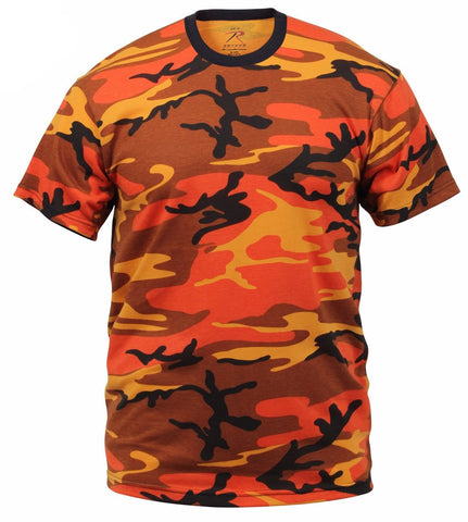 Rothco Colored Savage Orange Camo T-Shirts