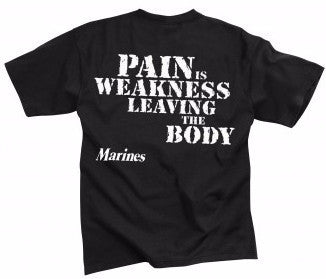 Rothco Marines Pain Is Weakness T-Shirt