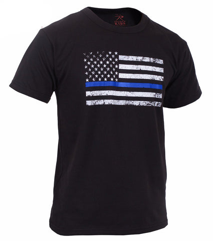 Rothco Kids Thin Blue Line US Flag T-Shirt