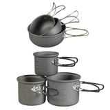 NDuR  6 Piece Essentials Cookware Mess Kit - Mad City Outdoor Gear