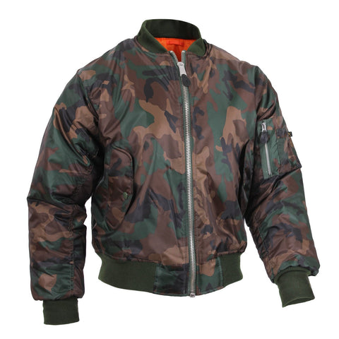 Rothco MA-1 Woodland Camo Flight Jacket
