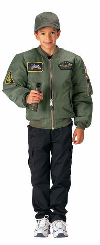 Rothco Kids Flight Jacket w/ Patches - Mad City Outdoor Gear