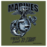 Black Ink Marines First To Fight T-Shirt