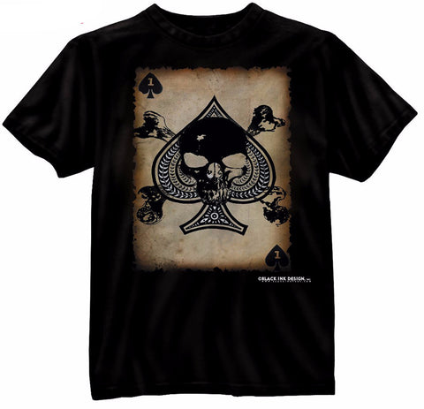 Rothco Black Ink Death Card T-Shirt