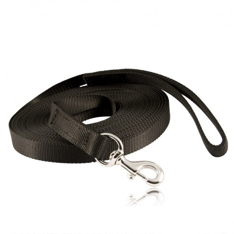 "Boston Leather 50"" K-9 Lead, Ballistic Weave"