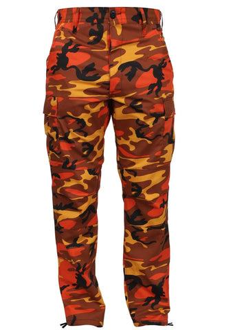 Rothco Color Savage Orange Camo Tactical BDU Pant