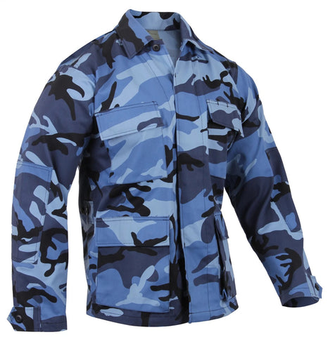 Rothco Color Sky Blue Camo BDU Shirt
