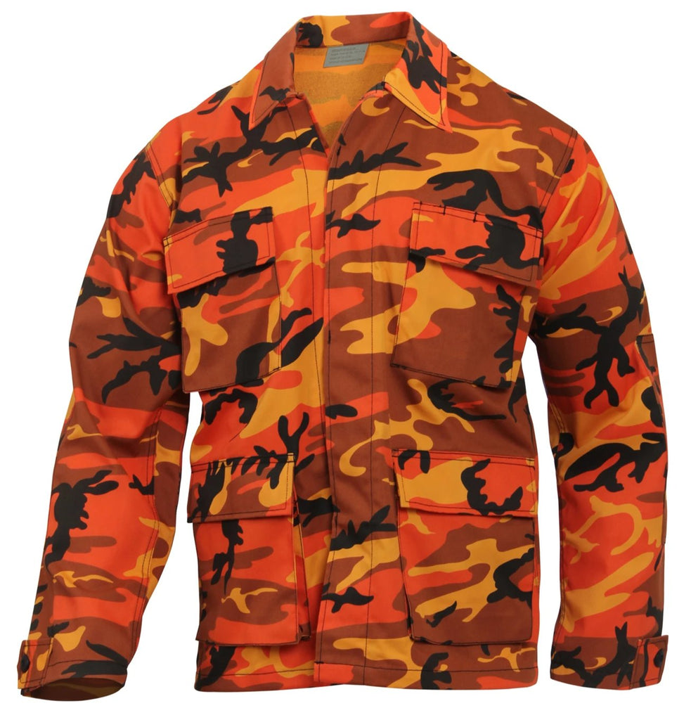 d885a5be44f12 Rothco Color Savage Orange Camo BDU Shirt – Mad City Outdoor Gear