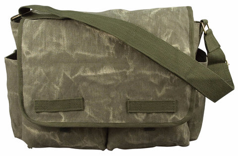 Stone Washed Canvas Classic Messenger Bag