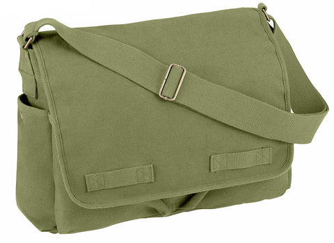 Rothco Vintage Unwashed Canvas Messenger Bag - Mad City Outdoor Gear