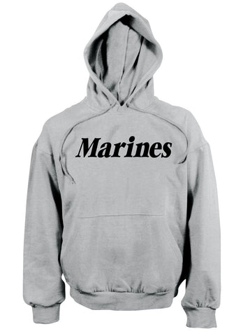 Rothco Marines Pullover Hooded Sweatshirt Grey