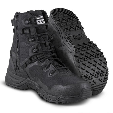 "Original SWAT Alpha Fury 8"" Size-Zip Men's Boots"