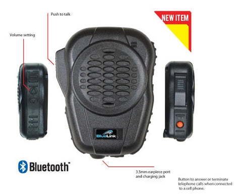 Code Red Headsets BlueLink Bluetooth Public Safety Speaker Microphone - Mad City Outdoor Gear