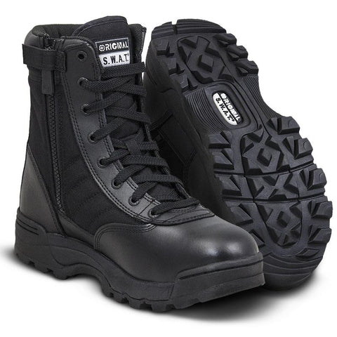 Original SWAT Classic 9 Black Side-Zip Boots