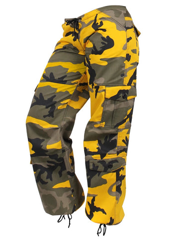 Rothco Womens Paratrooper Colored Camo Fatigues - Stinger Yellow
