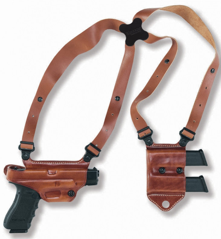 Holsters, Belts & Pouches Black Full Grain Leather Holsters Mch Spider Harness For Galco Shoulder Component System