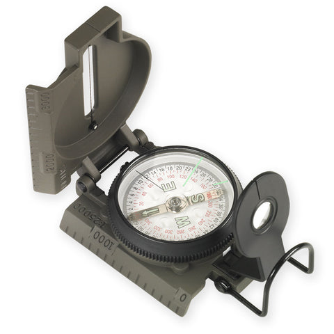 NDuR  Lensatic Compass w/Metal case - Mad City Outdoor Gear