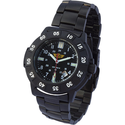 UZI Protector Tritium Watch with Metal Strap
