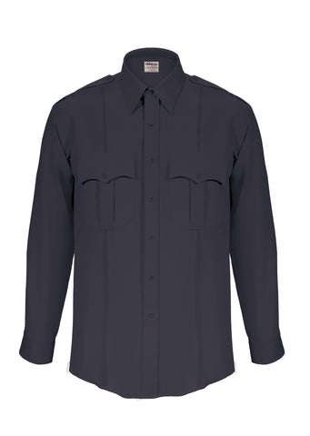 Elbeco TexTrop2 Long Sleeve Shirt with Zipper – Mens Navy Blue