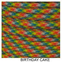 550 Paracord Type III - Birthday Cake - Mad City Outdoor Gear