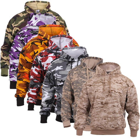 Rothco Camo Pullover Hoodie Military Style Camouflage Hooded Sweatshirt