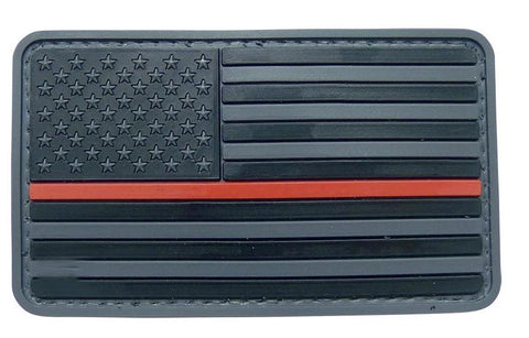 Tru-Spec USA Flag Black with Red Stripe Morale Patch