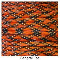 550 Paracord Type III - General Lee - Mad City Outdoor Gear