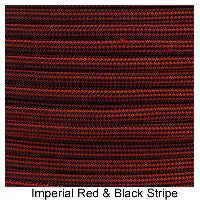 550 Paracord Type III - Imperial Red / Black Stripe - Mad City Outdoor Gear