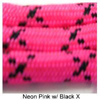 550 Paracord Type III - Neon Pink with Black X - Mad City Outdoor Gear