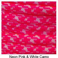 550 Paracord Type III - Neon Pink / White Camo - Mad City Outdoor Gear