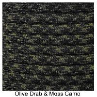 550 Paracord Type III - Olive Drab / Moss Camo - Mad City Outdoor Gear
