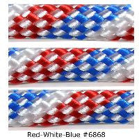 550 Paracord Type III - Red-White-Blue #6868 - Mad City Outdoor Gear