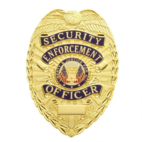 "Smith & Warren Security Enforcement Officer Tear Drop Badge, 2-3/16"" x 3-1/8"""
