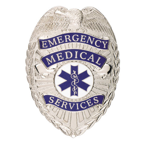 "Smith & Warren Emergency Medical Services Tear Drop Badge, 2-3/16"" x 3-1/16"""