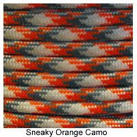 550 Paracord Type III - Sneaky Orange Camo - Mad City Outdoor Gear