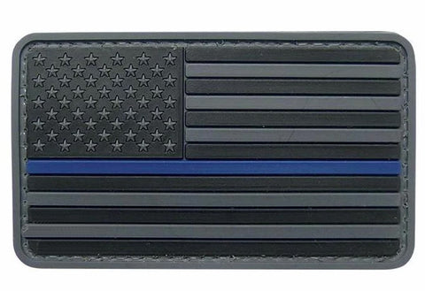 Tru-Spec USA Flag Black with Thin Blue Line Morale Patch