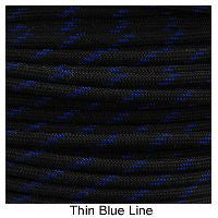 550 Paracord Type III - Thin Blue Line - Mad City Outdoor Gear