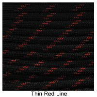 550 Paracord Type III - Thin Red Line - Mad City Outdoor Gear